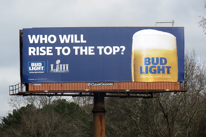 Bud Light Big Game Billboard
