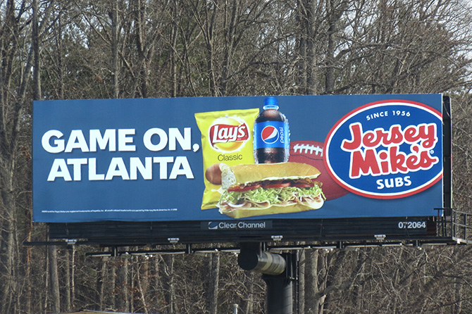 Jersey Mikes Big Game Billboard