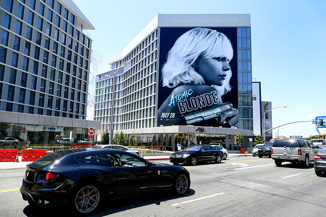 Atomic Blonde Sunset Strip Billboard