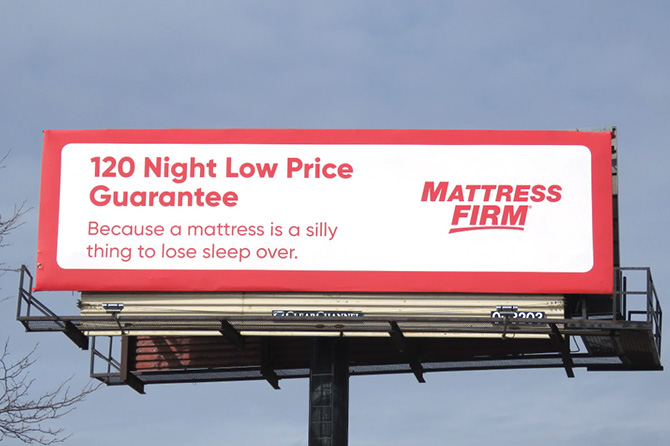 Mattress Firm Billboard