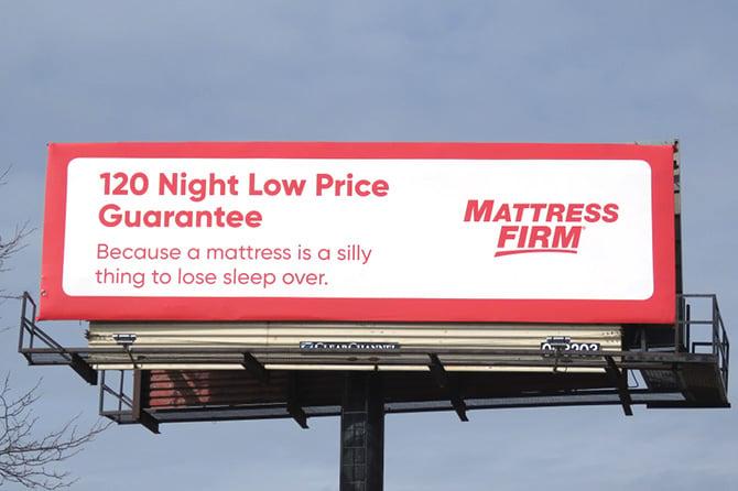 Mattress Firm Billboard