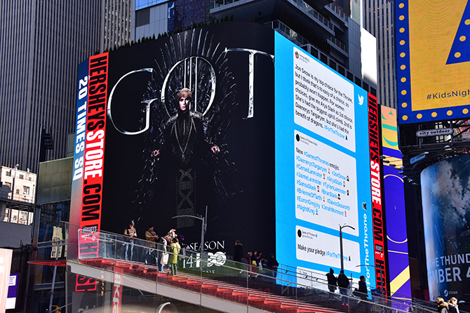 Game of Thrones Times Square Cersei Billboard