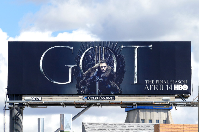 HBO Game of Thrones Jon Snow Billboard