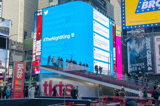 Twitter Game of Thrones Times Square Night King Emoji