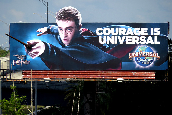Universal Orlando Harry Potter Billboard