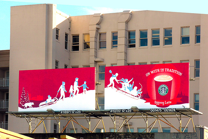 Starbucks Side-by-Side Premiere Panels
