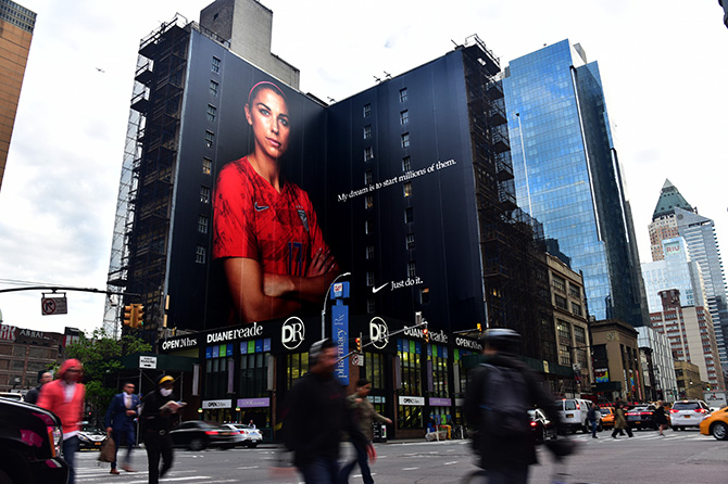 Alex Morgan Nike Wall in New York