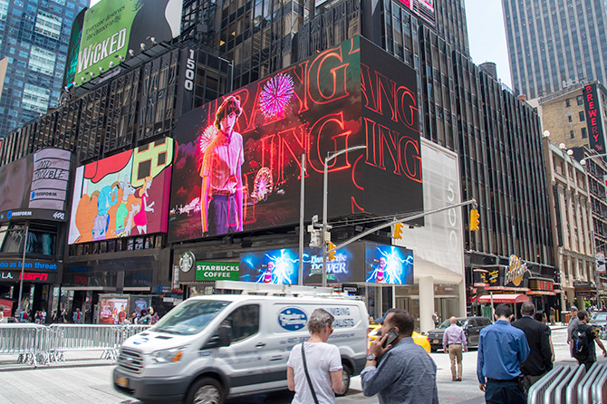 Netflix Stranger Things Times Square Billboard