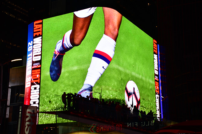 Nike World Cup Digital Times Square Billboard
