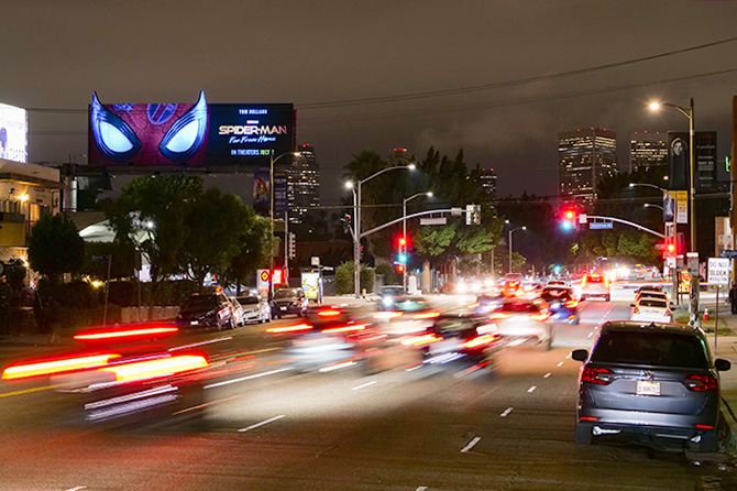 Spider-Man Nighttime Billboard