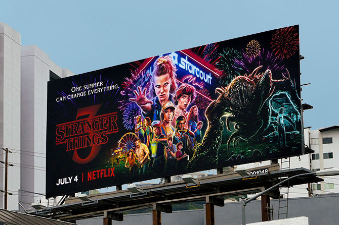 Stranger Things Los Angeles Billboard