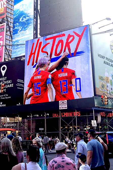 USWNT Digital Billboard in Times Square