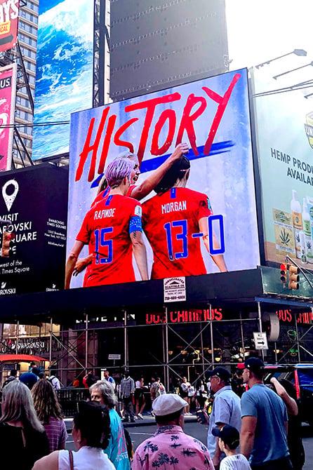 USWNT Digital Billboard in Times Square