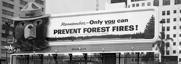 1950s Ad Council Smokey Bear Ad