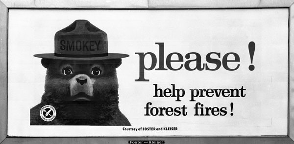 1960s Ad Council Smokey Bear Ad