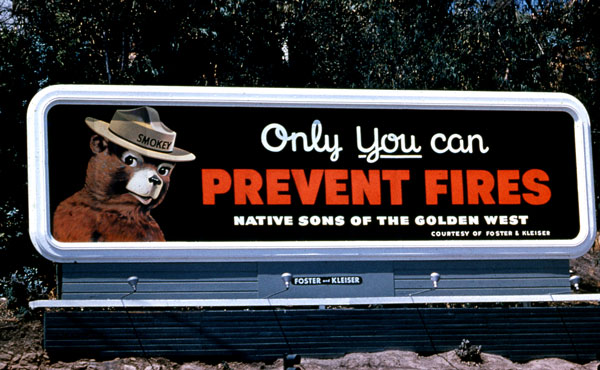 1963 Ad Council Smokey Bear Ad
