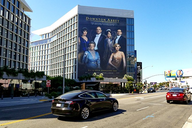 Downton Abbey Sunset Blvd Wall