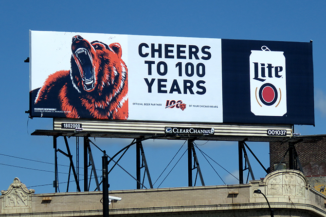 Miller Lite Chicago Bears Billboard