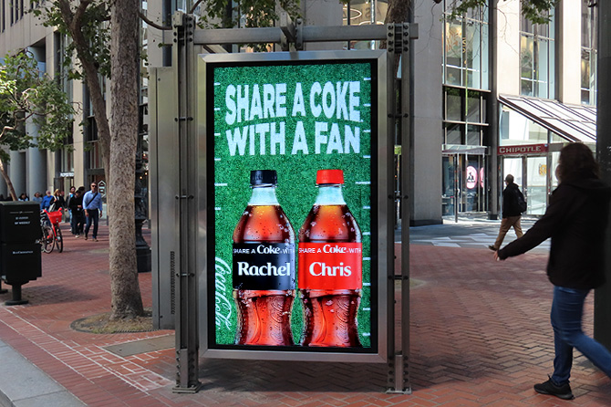 Share a Coke with a Fan SF Digital Ad