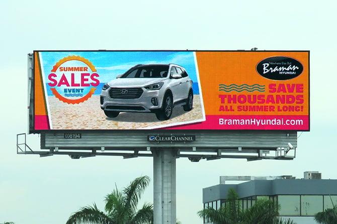 Braman Motors Digital Billboard