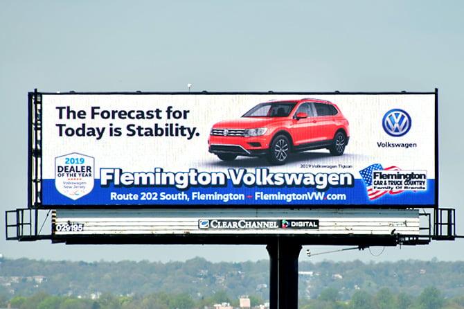 Flemington Volkswagen Digital Billboard