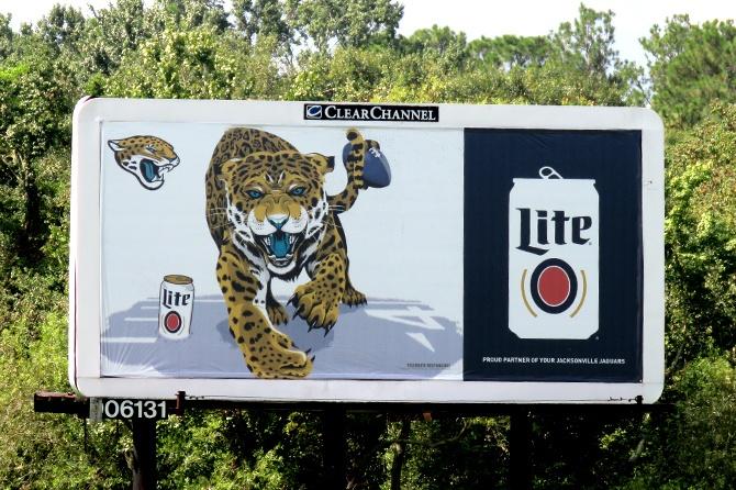 Miller Lite Jacksonville Jaguars Billboard