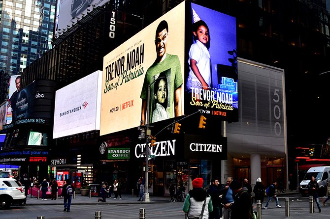 Netflix Trevor Noah Son of Patricia Times Square Ad