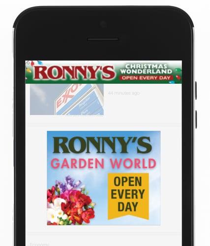 Ronnys Garden Mobile Ad
