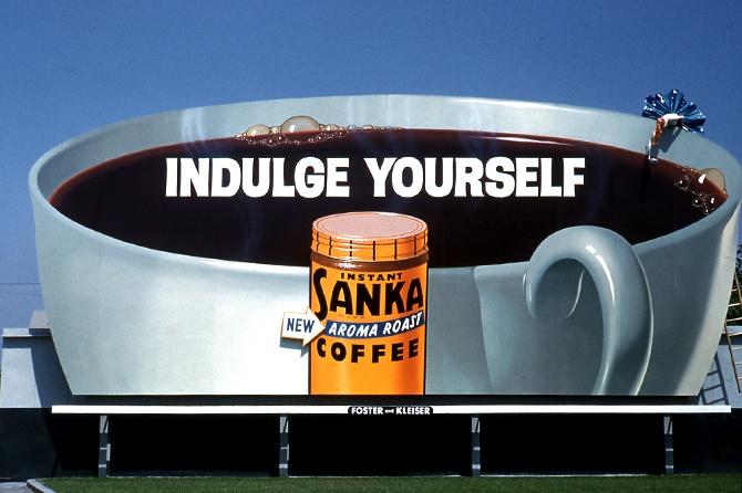 Sanka Coffee 1960s Billboard