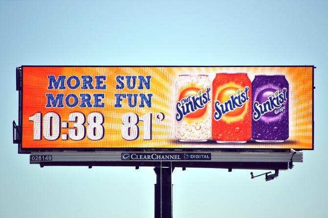 Sunkist Time Temp Digital Billboard