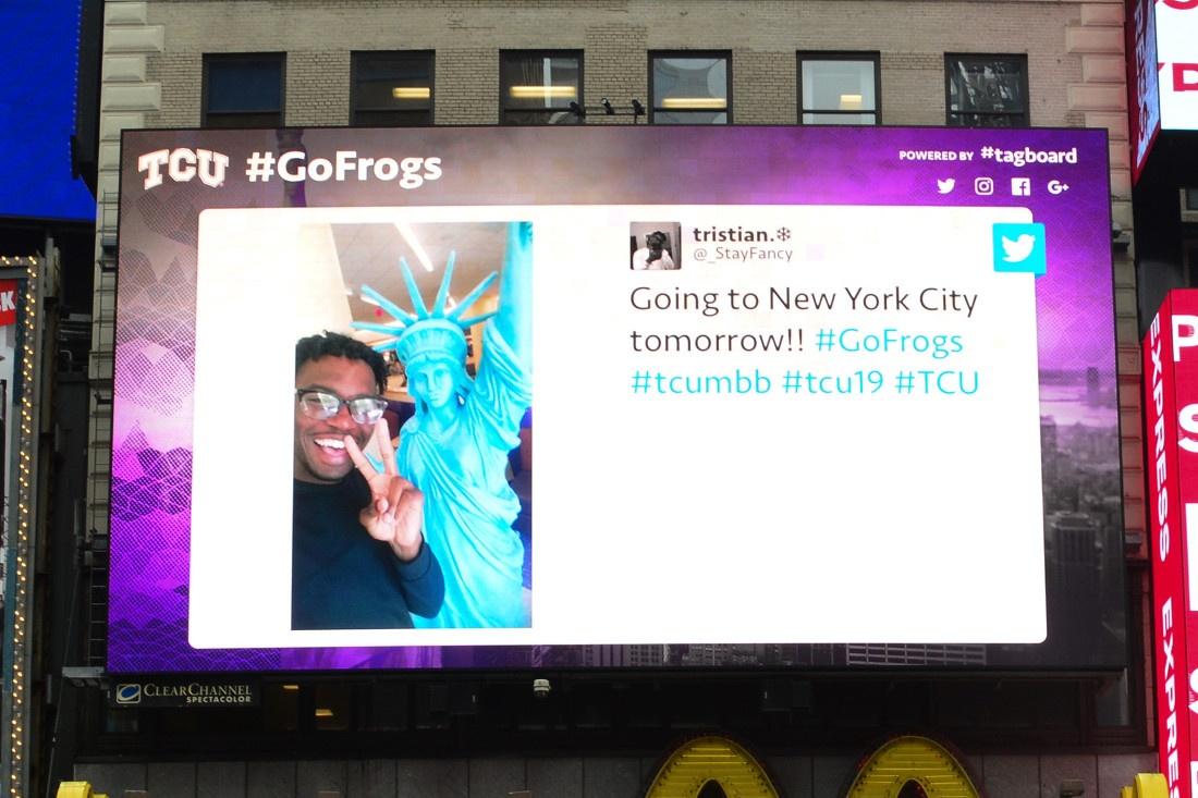 TCU #FrogsAndTheCity 2 NY Billboard-1