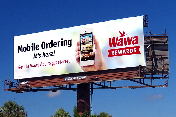 Wawa Mobile Ordering Billboard