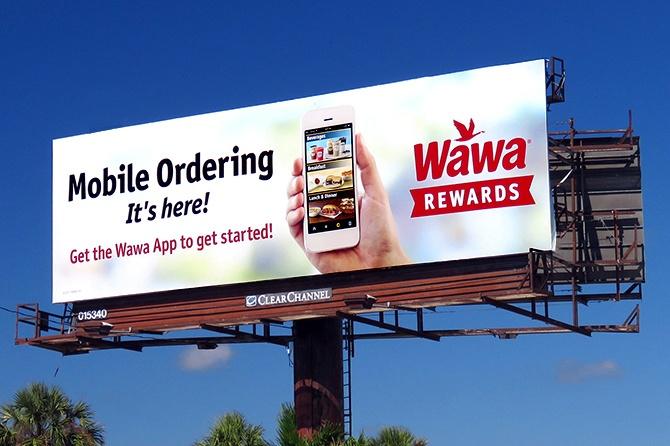 Wawa Mobile Ordering Billboard
