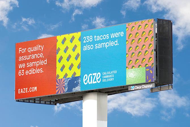 Eaze OOH Campaign